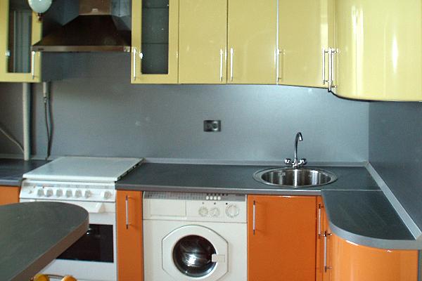 совмещенные кухни фото
